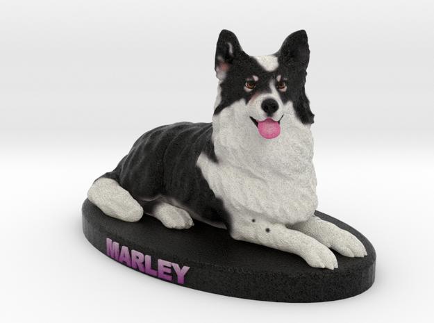Custom Dog Figurine - Marley in Full Color Sandstone
