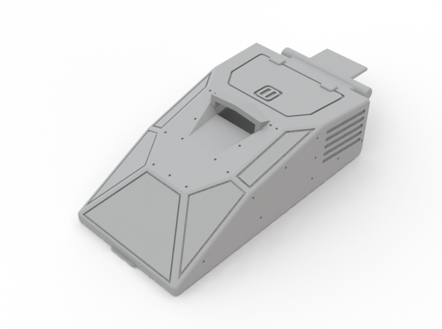 Hiss Canopy Armored in White Processed Versatile Plastic