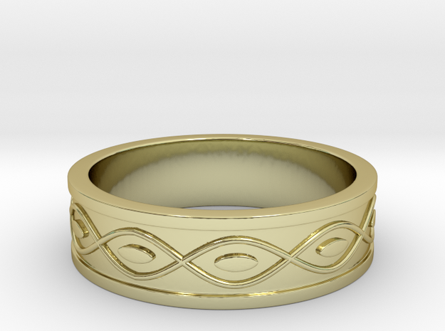 Ring with Eyes - Size 9 in 18k Gold Plated Brass