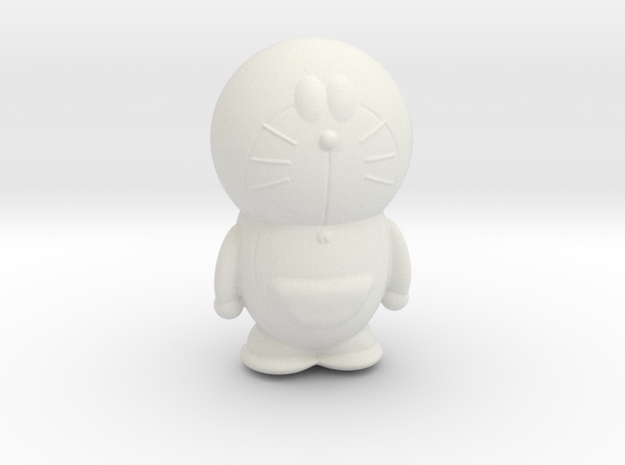 Doraemon hollow in White Natural Versatile Plastic