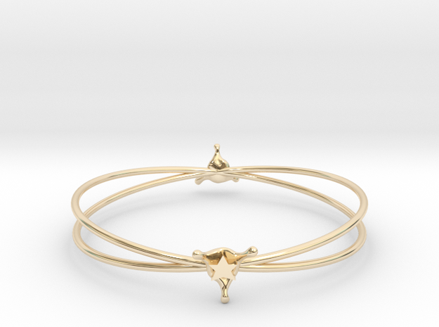 StarSplash bracelet in 14k Gold Plated Brass