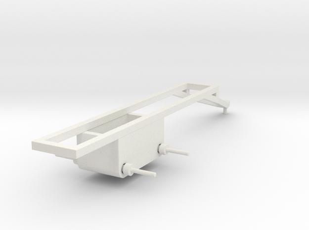 1/64 Pull type frame- short in White Natural Versatile Plastic