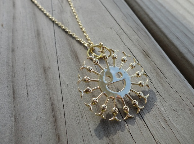 SunFish in 14k Gold Plated Brass