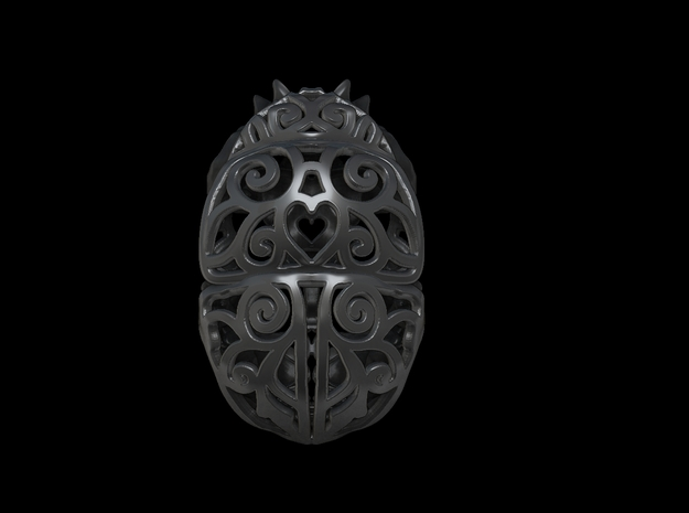 Dung Beetle (Scarab) Filagree Pendant 3.5cm 3d printed