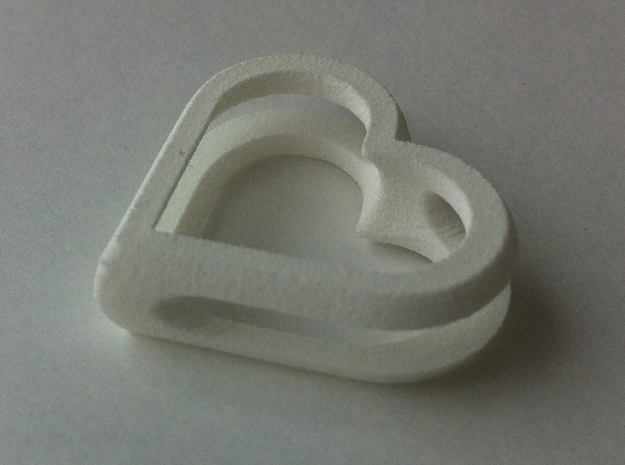 MyHearts 3d printed White Strong & Flexible