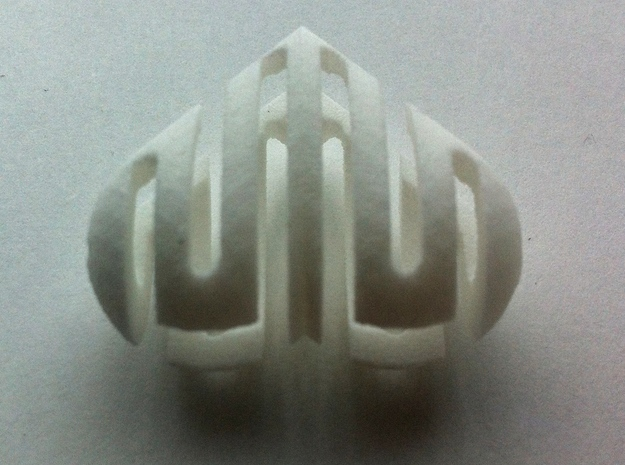 HungryHeart 3d printed White Strong & Flexible