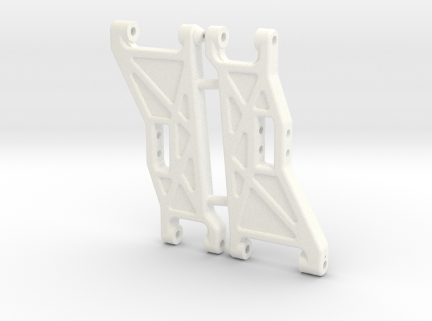 NIX91052 - B2 front arms, Race in White Processed Versatile Plastic