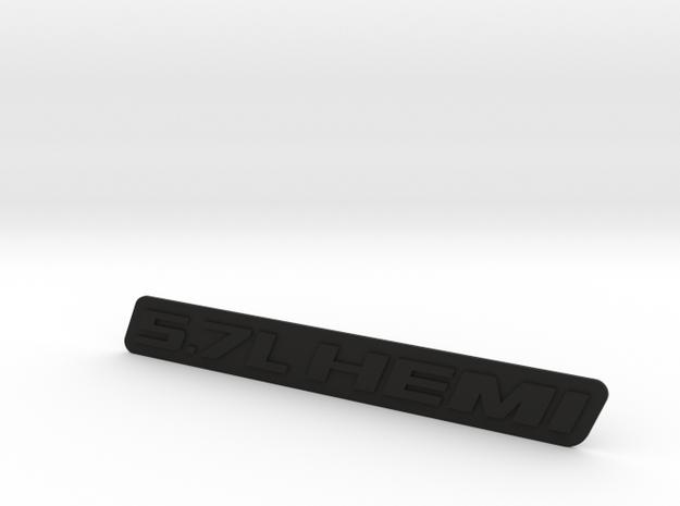 5.7L HEMI Cover Badge in Black Strong & Flexible