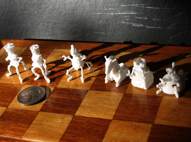 Robo Chess in White Strong & Flexible