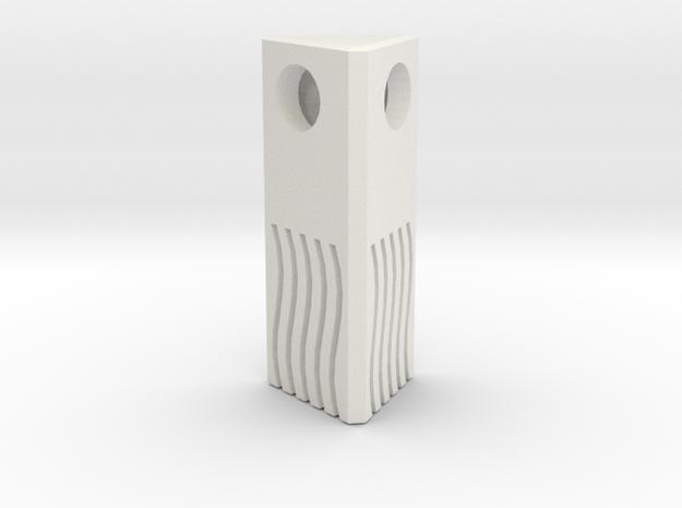 Fifth Element - Fire Necklace / pendant 2.5cm in White Natural Versatile Plastic