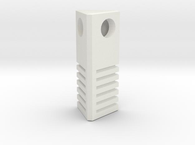 5th Element - Earth Stone Charm 2.5cm in White Natural Versatile Plastic