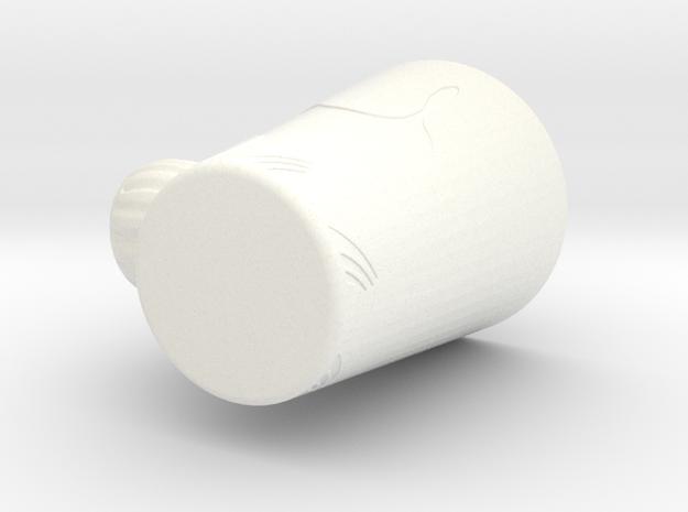 Rabbit Mug in White Processed Versatile Plastic