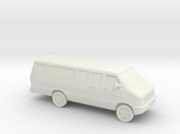 1/87 2002 Dodge Ram Van  in White Natural Versatile Plastic