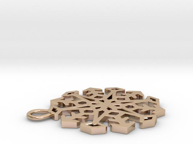 Snowflake Pendant #3 3d printed