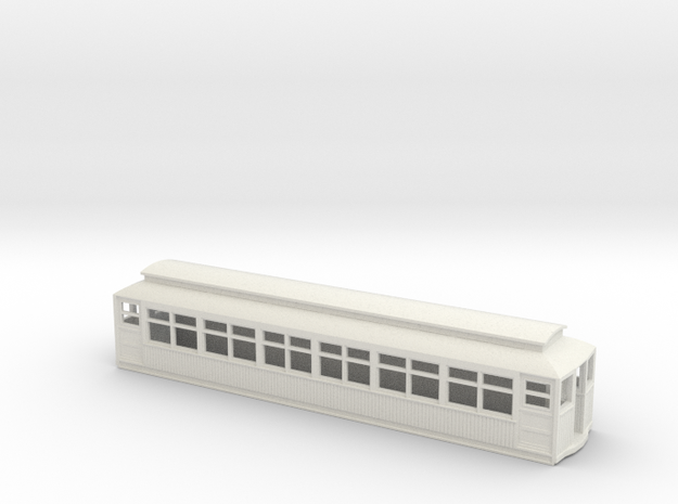 CTA/CRT 2800/2900 Series Wood Rapd Transit Car in White Natural Versatile Plastic