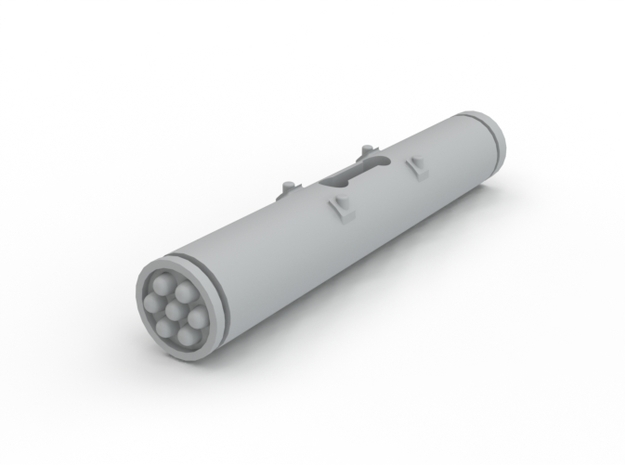 Dragonfly/Locust Small Rocket Pod in White Processed Versatile Plastic