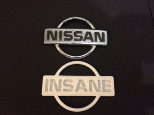 Nissan Insane Badge thinner version 2 in Frosted Ultra Detail