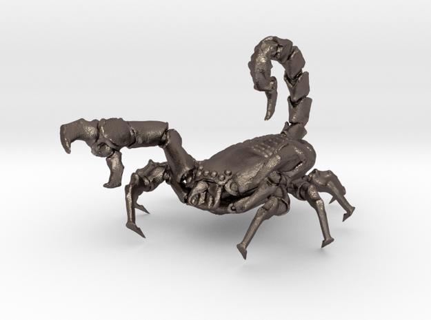 Skorpion 01 in Polished Bronzed Silver Steel