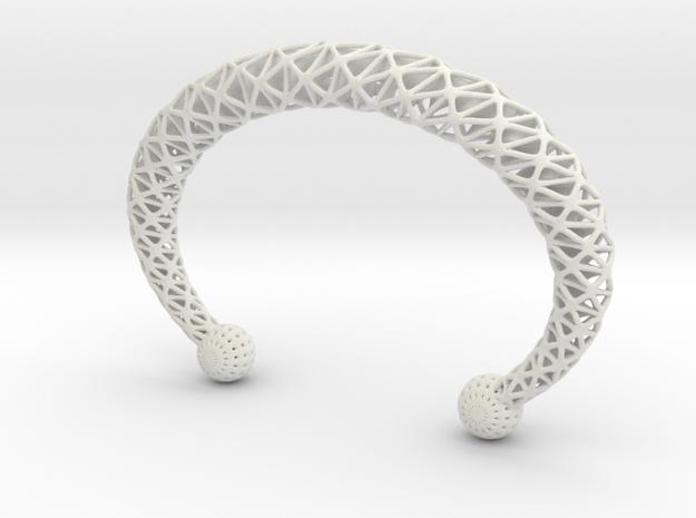 TORC BRACLET in White Natural Versatile Plastic