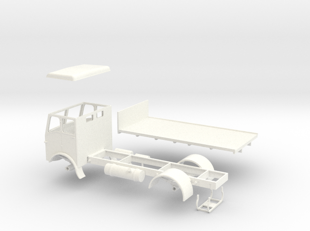 1:43 Atkinson c1950 13'6'' Chassis with16' Flatbed 3d printed
