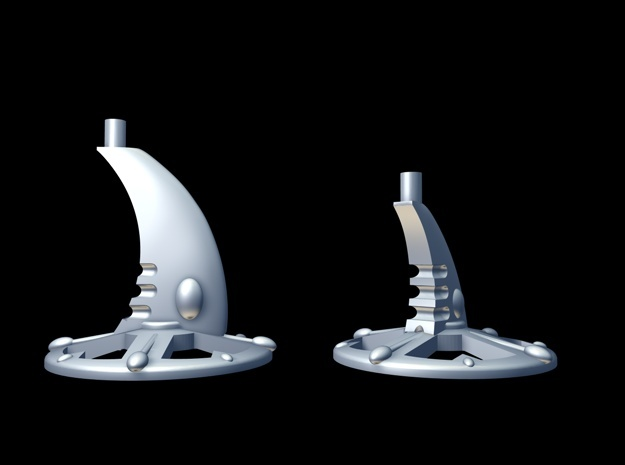 6 Bases for Eldar Cruisers and Escort Ships in White Strong & Flexible Polished