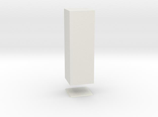 Columna Laterata Quadrangula Solida in White Strong & Flexible