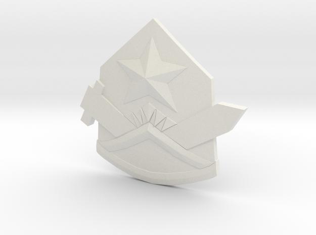 Samezuka Badge - Hat in White Natural Versatile Plastic