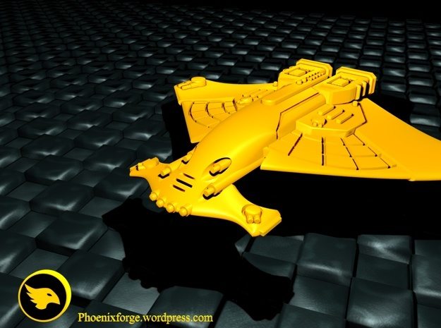 Harbinger class cruiser in Yellow Strong & Flexible Polished