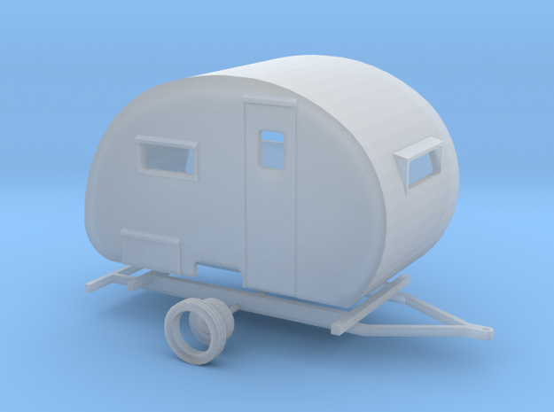 1949 Boles Aero Travel Trailer Ready For Shapeways in Smooth Fine Detail Plastic