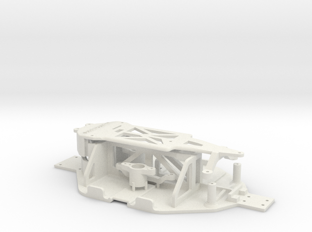 Losi Micro 1/24 Chassis Ver. B Wide in White Strong & Flexible