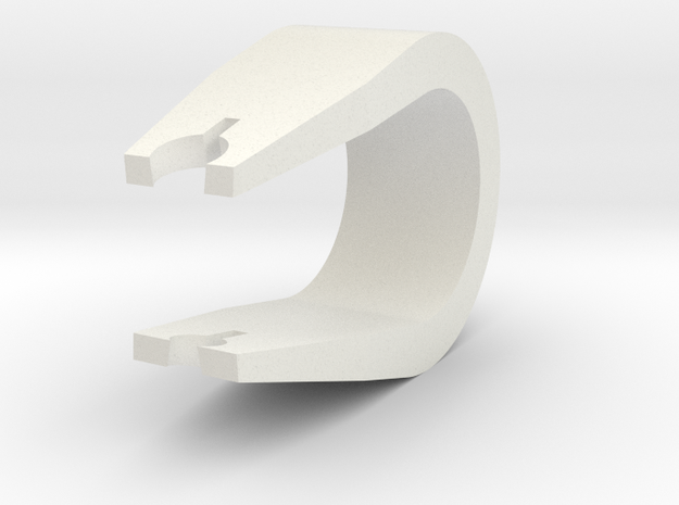 Trig Clip in White Natural Versatile Plastic