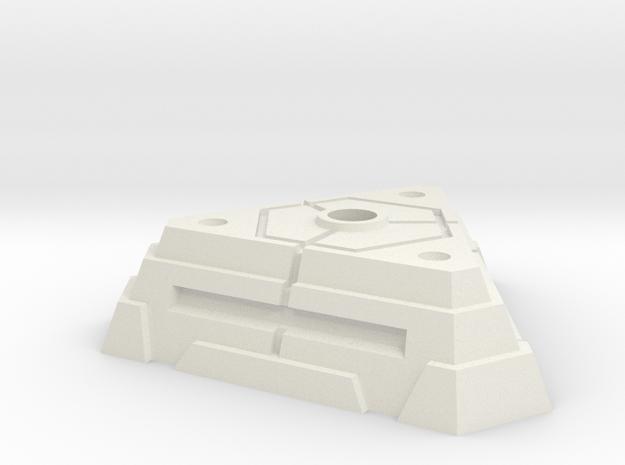 Sci-Fi Bunker in White Natural Versatile Plastic