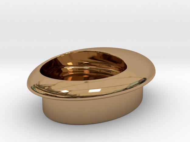 love handles I Egg handle V I chic metals in Polished Brass
