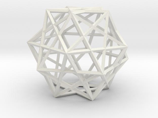 5 Cube Compound in White Natural Versatile Plastic