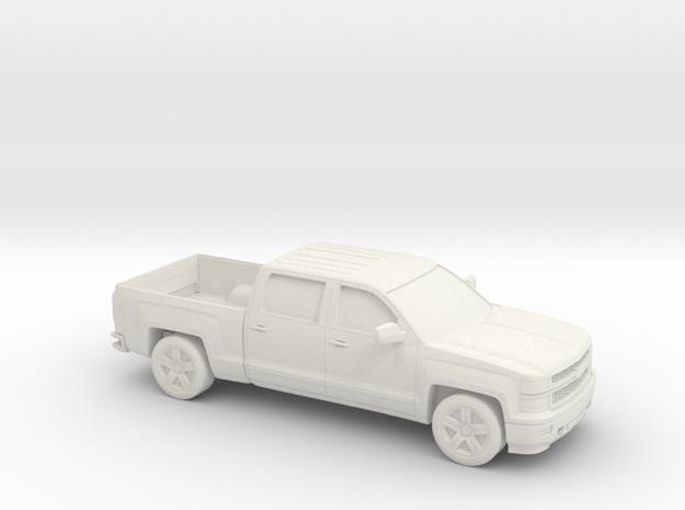 1/64 2014 Chevrolet Silverado Crew Cab in White Strong & Flexible