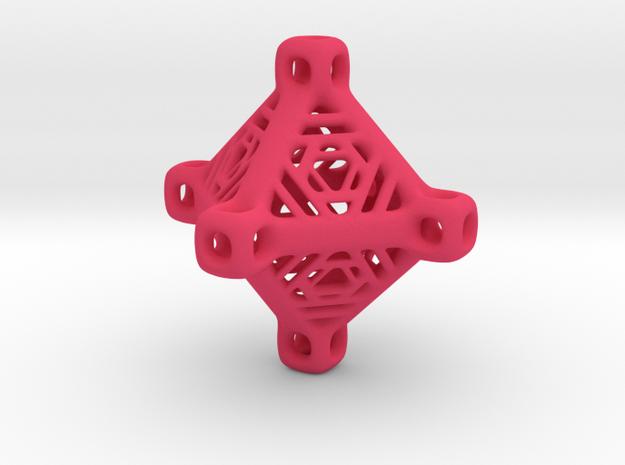 Hyper Tetra Keychain Fob 3d printed