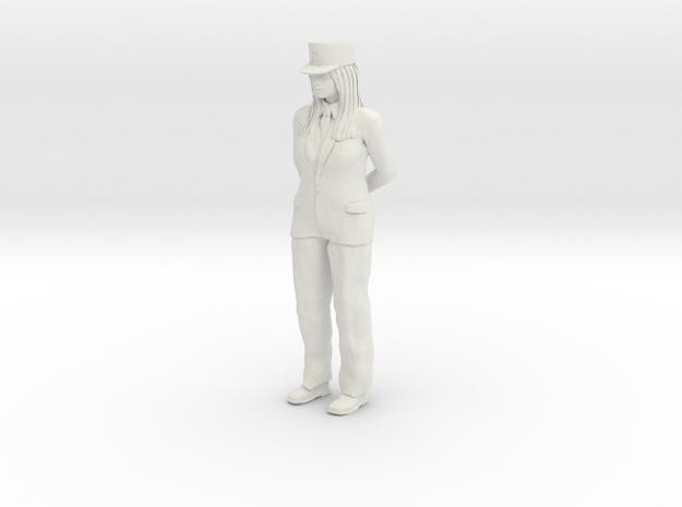 Female-conductor 1/24 in White Natural Versatile Plastic