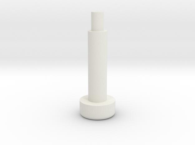 Bally Rolover Button in White Natural Versatile Plastic