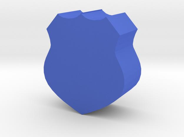 Game Piece, Police Badge in Blue Processed Versatile Plastic