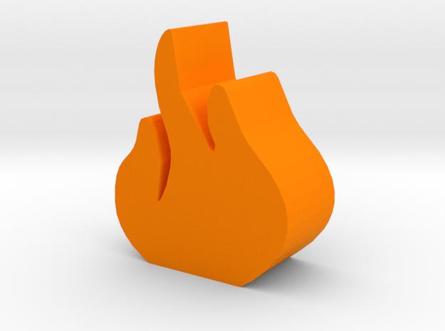 Game Piece, Flame Token in Orange Processed Versatile Plastic