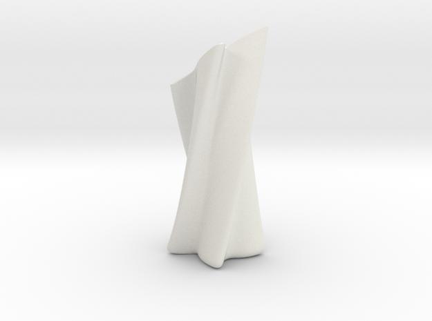 Slanted Shuriken Vase in White Strong & Flexible
