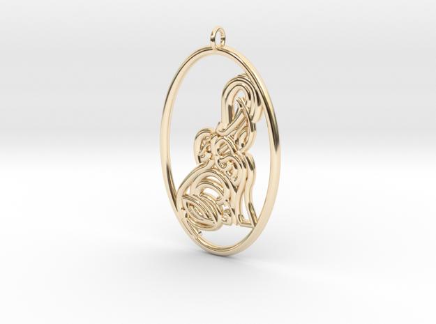 Earring / Pendant - Elephant  in 14K Yellow Gold