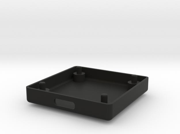 GPSBOX Lower Part in Black Natural Versatile Plastic