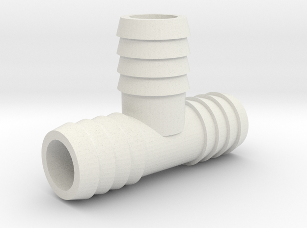 5/8 Inch Tee Barb in White Strong & Flexible