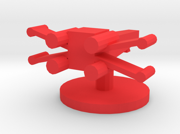 X Wing Token in Red Strong & Flexible Polished