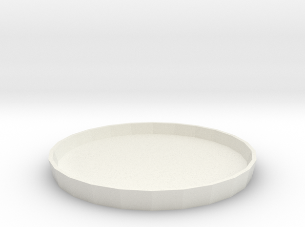 Circular Tray 1:6 in White Strong & Flexible