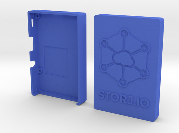 Case for Rasperry Pi 2, 3 or B+ with Storj logo in Blue Processed Versatile Plastic