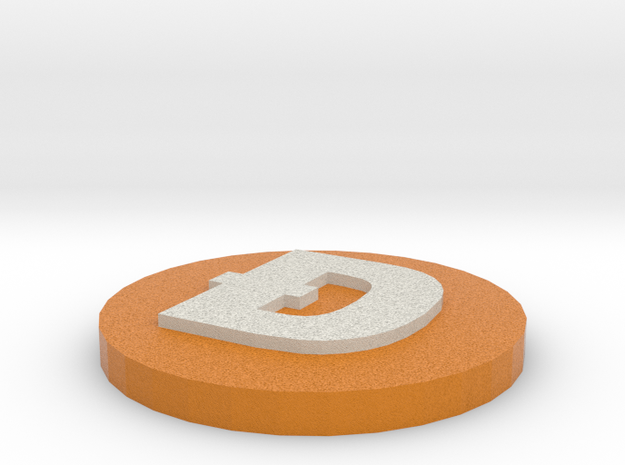 Dogecoin (VERSION 2) in Full Color Sandstone