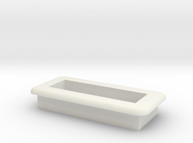 DNA Small Screen Bezel/Cradle - v2 in White Natural Versatile Plastic
