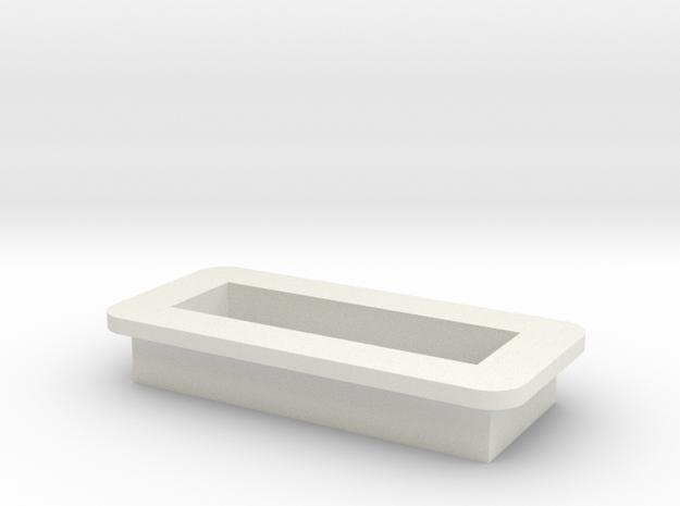 DNA Small Screen Bezel/Cradle - v1 in White Natural Versatile Plastic